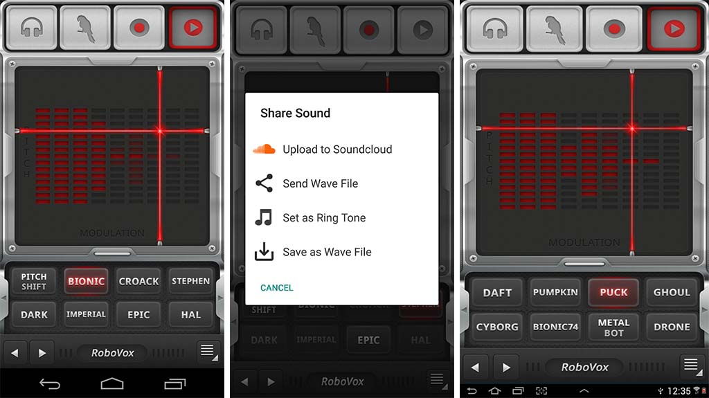 5 best voice changer apps for Android! RoboVox screenshot 2019